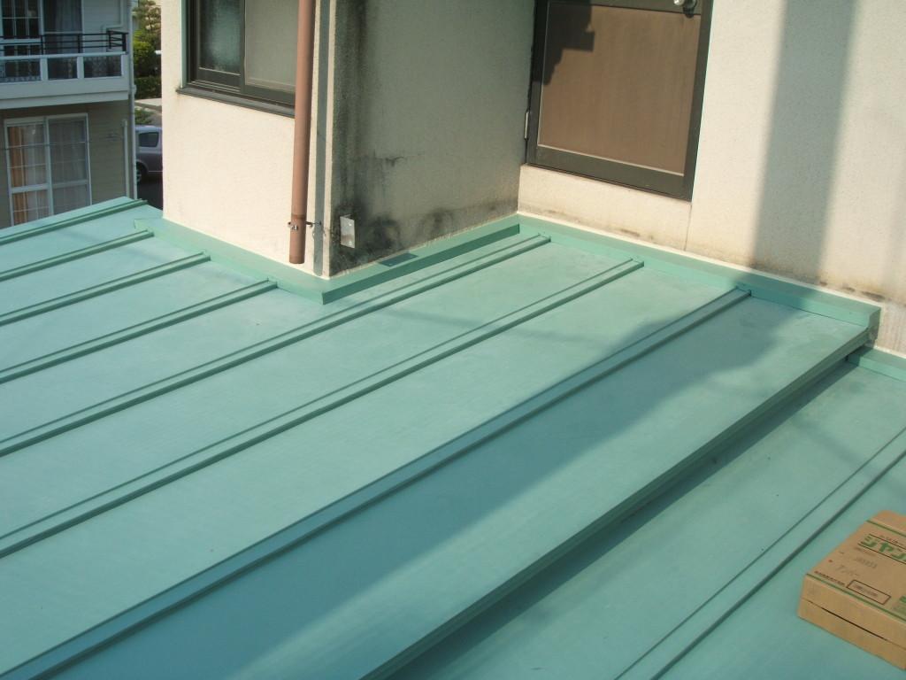 瓦棒葺 GLカラー鋼板 0.35t