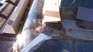 外壁改修工事に伴い葺止水切取替