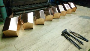 隅木包の加工完了